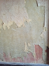 wood and wallpaper